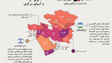 میزان شادی در خاورمیانه و آسیای مرکزی