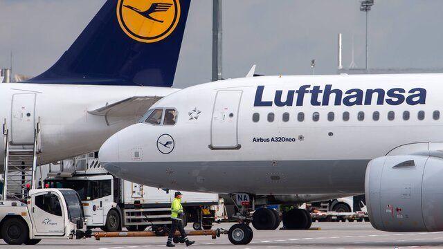 سقوط ۹۰ درصدی پروازهای لوفتهانزا در جهان