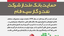 حمایت بانک ملت از شرکت نفت و گاز سیه فام