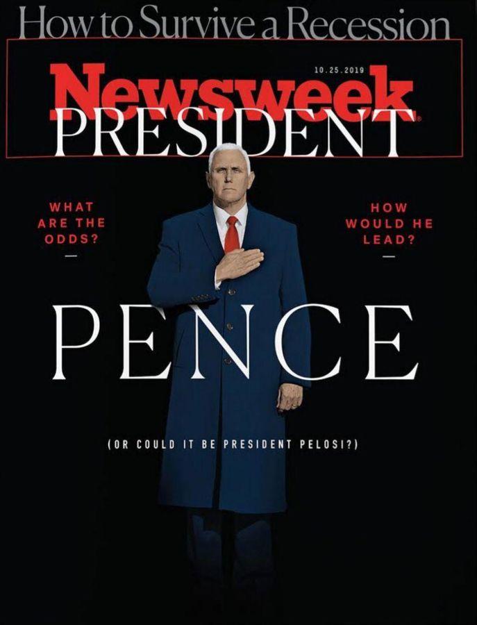 طرح جسورانه نیوزویک علیه ترامپ / تصویر پرزیدنت پنس!