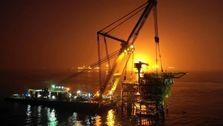 سکوی S۱ میدان نفتی سلمان نصب شد/افزایش تولید میدان نفتی مشترک